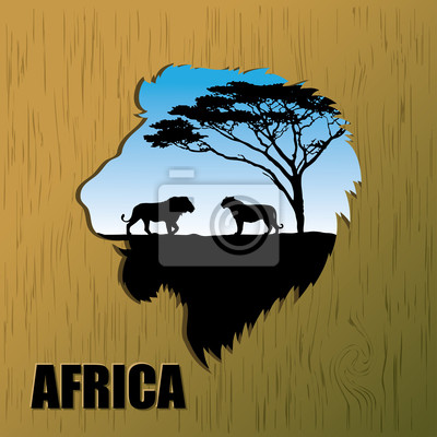 Afrikanische Löwen Hintergrund