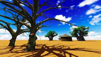 Bild Afrikanischen Dorf