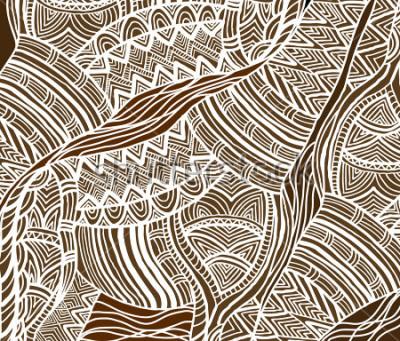 Bild Afrikanischer Hintergrund im ethnischen Stil von Hand bemalt