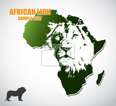 Afrikanischer Löwe - Vektor