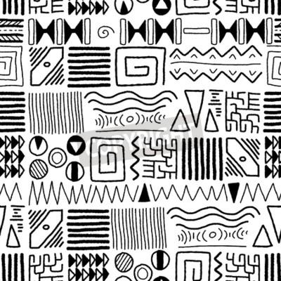 Bild Afrikanisches ethnisches Muster - indigener Kunsthintergrund. Afrika Stil Design.