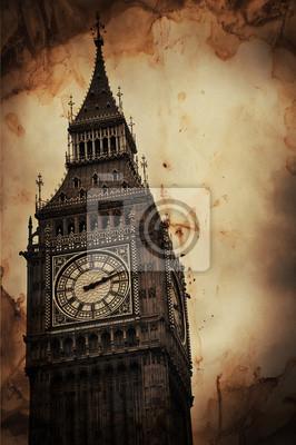 Bild Aged Vintage Retro Bild von Big Ben in London