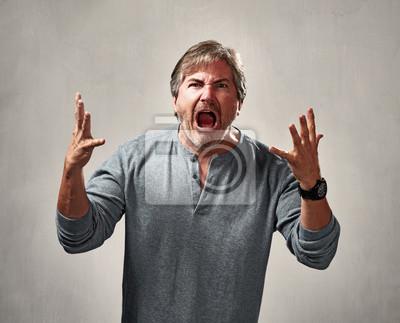 mann aggressiv