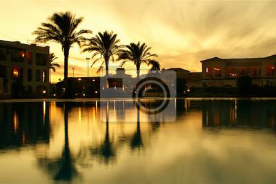 Ägyptischen Sonnenuntergang