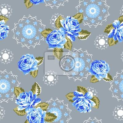 Alana Blumen Nahtlose Muster