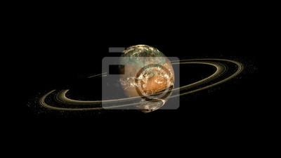 Alien Exo Planet. Elemente dieses Bildes von der NASA eingerichtet