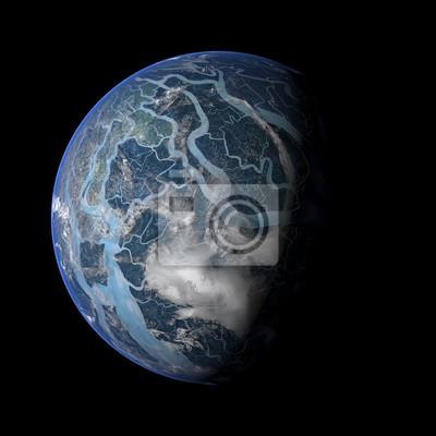 Alien Exo Planet. Elemente dieses Bildes von der NASA eingerichtet.