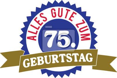 Alles Gute Zum 75 Geburtstag Leinwandbilder Bilder 75 Gluck Jag