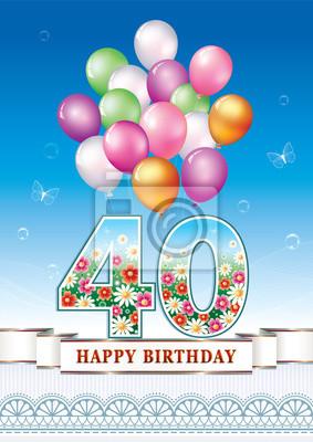 Geburtstag 40 jahre