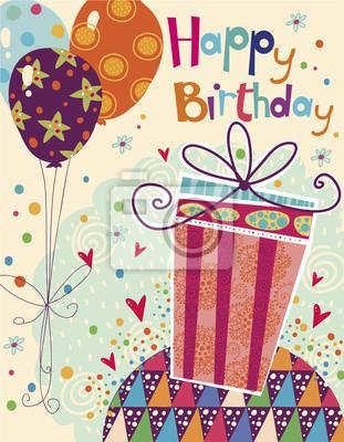 Alles Gute Zum Geburtstag Grußkarte Mit Geschenk