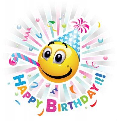 Alles Gute Zum Geburtstag Grusskarte Smiley Feiern Smiley Ist