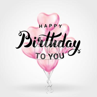 Alles Gute Zum Geburtstag Herz Ballon Leinwandbilder Bilder Fur