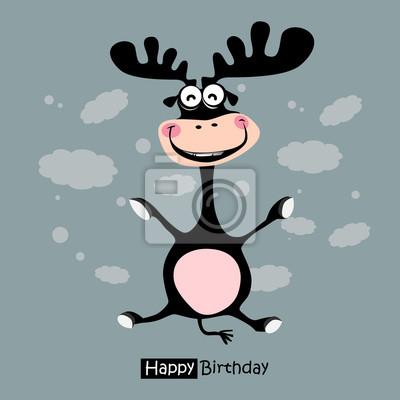 Alles Gute Zum Geburtstag Lustig Hirsche Lächeln Leinwandbilder