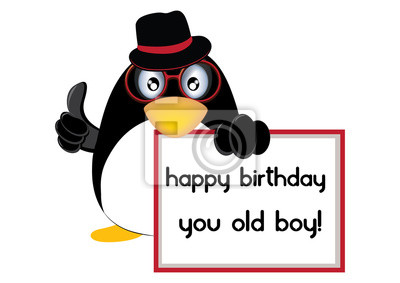 Alles Gute Zum Geburtstag Penguin Leinwandbilder Bilder Pinguin
