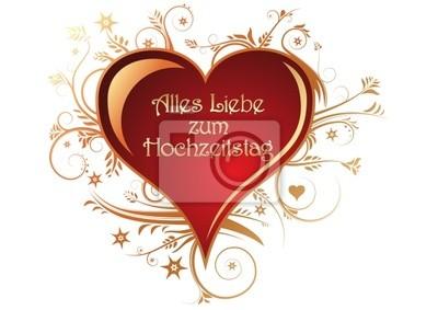 Alles Liebe Zum Hochzeitstag Herz Mit Ornamente Leinwandbilder
