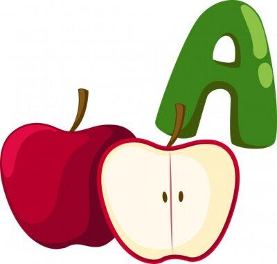 Bild Alphabet A für Apfel