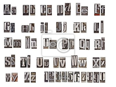 Alphabet aus Metall Buchstaben