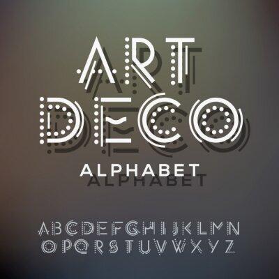 Bild Alphabet Buchstaben Sammlung, Art Deco-Stil
