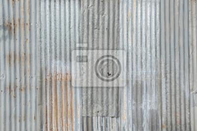 Blechdach textur  Alte blechdach textur. muster aus altem blech. metallblech textur ...