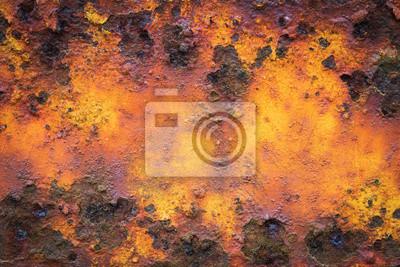 Alte gelbe rostigen Metall grunge Hintergrund