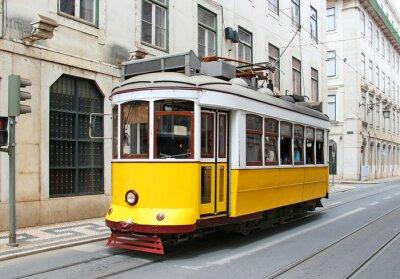 Bild Alte gelbe Straßenbahn Lissabon, Portugal