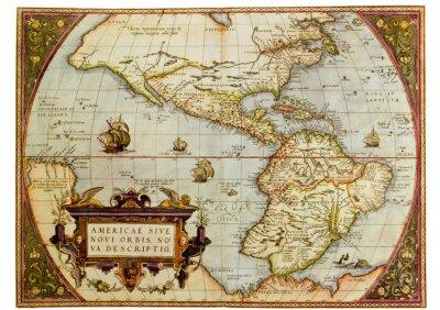 Bild Alte Karte von Amerika. Foto aus alten Reproduktion