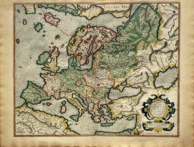 Bild Alte Karte von Europa, gedruckt im Jahre 1587 von Mercator