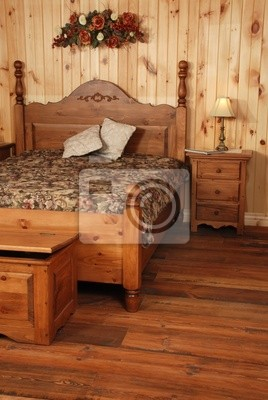 Alte Kiefernholz Schlafzimmer Set Leinwandbilder Bilder Rustical