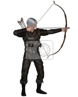 Alte mittelalterliche oder Fantasy-Bogenschütze