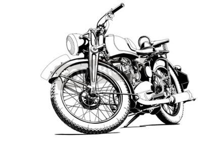 Bild Alte Motorrad-Illustration