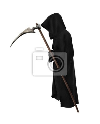Alte Reaper mit Sense