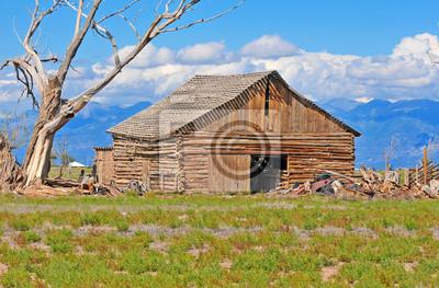 Bild Alte Scheune auf dem Bauernhof, Landschaft West Amerika, USA