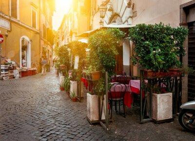 Bild Alte Straße in Trastevere in Rom, Italien