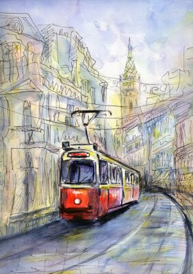 Bild Alte Straßenbahn