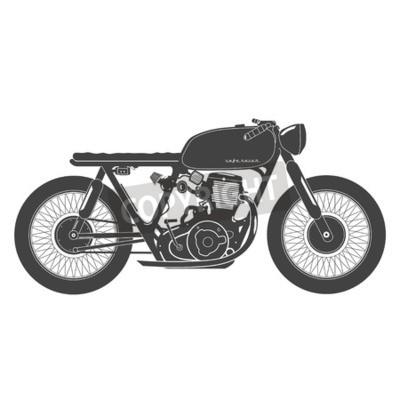 Bild Alte Weinlese Motorrad. Cafe racer theme.