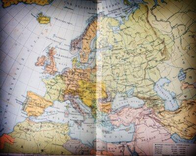 Bild alte XIX Jahrhundert geografischen mapbook offen
