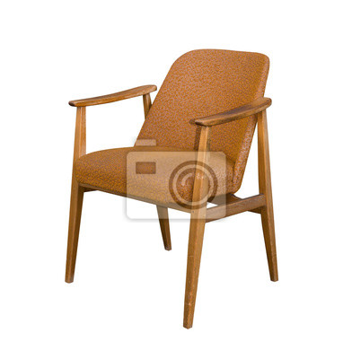 Alter 60er Jahre Sessel Sechziger Stuhl Leinwandbilder Bilder
