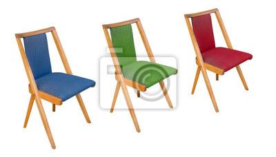 Alter Antiler Stuhl Rockabilly Möbel Um 1960 Leinwandbilder