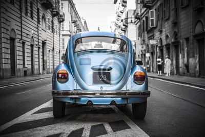 Bild Altes blaues Auto