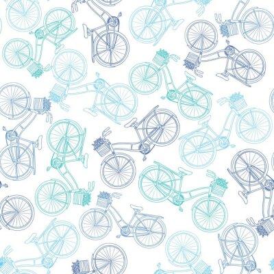Altes Fahrrad Seamless Pattern