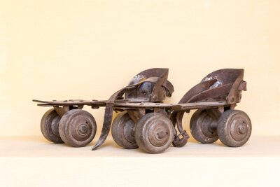 Bild Altes Paar Rollschuh