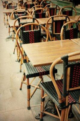 Bild altmodischen Café-Terrasse