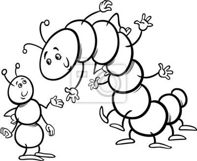 Ameise und raupe malvorlagen leinwandbilder • bilder Tausendfüßler ...