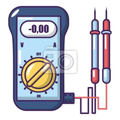 Amperemeter-symbol, cartoon-stil. leinwandbilder • bilder ...