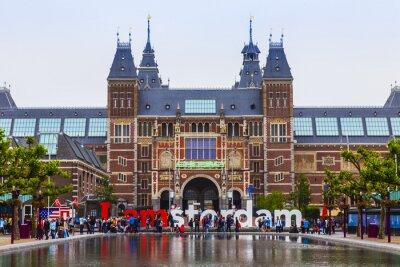 Bild Amsterdam, Niederlande. Der Platz vor der Staatsmuseum