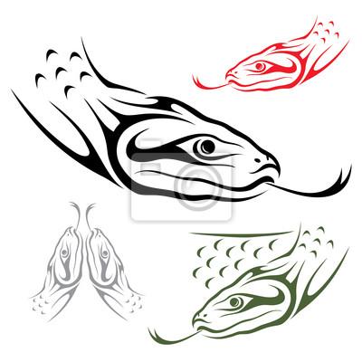 Anaconda Schlange - Vektor-Illustration