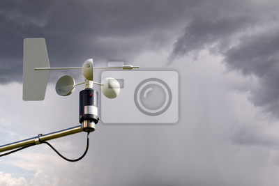 Anemometer auf Sturm
