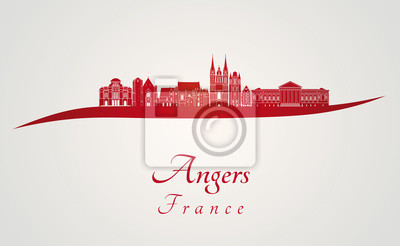 Bild Angers Skyline in rot