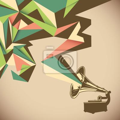 Bild Angular Abstraktion mit alten Schallplatten.