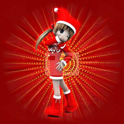 Anime Weihnachten Bilder.Bild Anime Mädchen In Weihnachten Kleid
